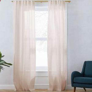 West Elm Sheer Belgian Flax Linen curtain panel